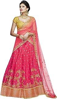 Ruby Wedding Reception wear Taffeta Silk Indian Lehenga Cholis Women Stylish Ethnic dress 8161
