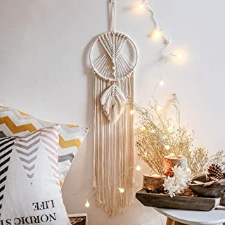 Gallity Handwoven Bohemian Dream Catcher - Tassel Macrame Dream Catcher,Home Wall Hanging Tapestry, Wedding Ornament Decoration,Baby Nursery Decorations Birthday Gifts