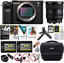 Sony Alpha a7C Full-Frame Compact Mirrorless Camera (Black) Bundle with FE 20mm f/1.8 G Lens (6 Items)