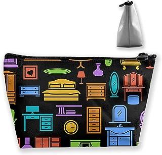 Makeup Bag Trapezoidal Storage Bag Furniture Home Portable Cosmetic Bag Ladies Mobile Travel Bag