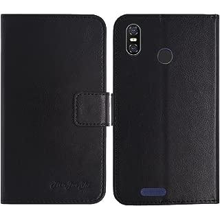 TienJueShi ブラック 耐汚れ スタンド 財布 レザー 合皮 カード収納 カバー ケース ポーチ 手帳型 ulefone s9 pro 5.5 inch