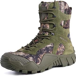 FREE SOLDIER Bottes de Chasse pour Hommes Bottes Militaires de Haut-Niveau Bottes Tactiques de Combat Chaussures à Lacets ...