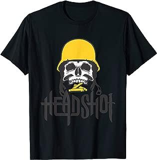 Tee Zombie Headshot Bullet Knife Army Helmet Teeth War T-Shirt