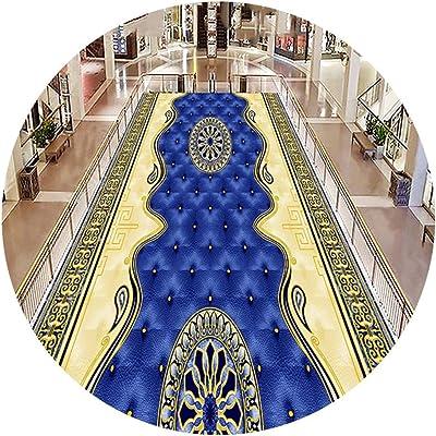 YANZHEN Hallway Runner Rugs No Shedding Non-Slip Latex Backing Moisture Proof Non-Woven Fabric Corridor Carpet, Thickness 4mm (Color : Multi-Colored, Size : 1.6 x 4m)