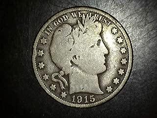 1915 Barber Half Dollar 50c VG