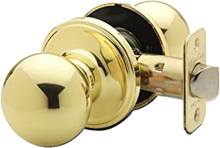 Copper Creek BK2020PB Ball Passage Door Knob, Polished Brass