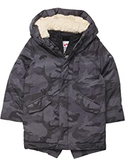 Boys Grey Pea Coat Size 11-16 Years Stylish Hooded Coat Quilted Inner RRP £44