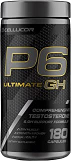 Cellucor P6 Ultimate GH Testosterone Booster for Men, Growth Hormone Support Pills for Protein Synthesis & Fat Metabolism,...