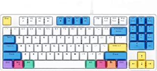 Havit Mechanical Keyboard Wired 89 Keys Gaming Keyboard Red Switch Keyboard with PBT Keycaps for PC Gamer Computer (White)