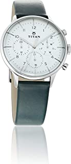 Titan Light Leathers Analog White Dial Men's Watch-90102SL03 / 90102SL03