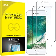 JETech Protector de Pantalla para iPhone 8 Plus iPhone 7 Plus, Vidrio Templado, 2 Unidades