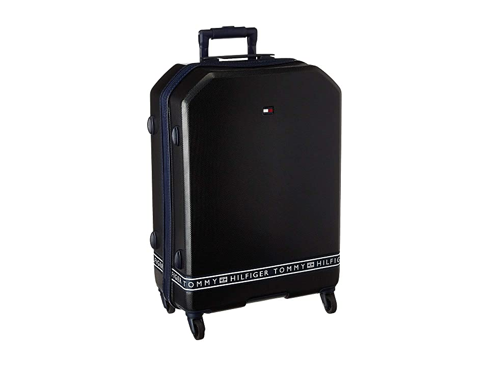 Tommy Hilfiger 25 Sneaker Sport Upright Suitcase (Black) Luggage
