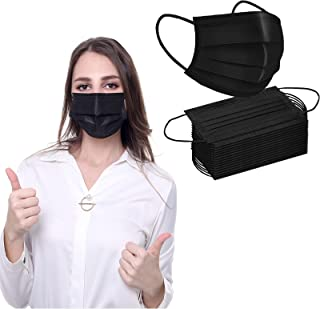 50PCS Disposable Face Masks,3 Ply Breathable Safety Mask with Elastic Earloop,Disposable Mouth Face Cover for Adults
