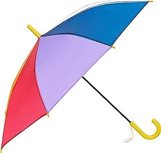 子供傘 53cm キッズ傘 女の子 男の子 手開き 長傘 リフレクター付き レインボー にじいろ