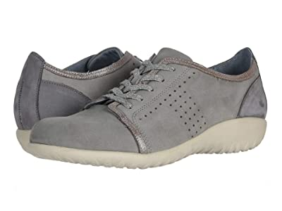 Naot Avena (Light Gray Nubuck/Silver Threads Leather/Smoke Gray Nubuck) Women