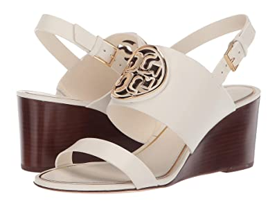 Tory Burch 65mm Metal Miller Wedge (Bleach/Gold) Women