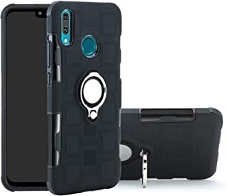 Huawei Y9 2019 case,Labanema Hybrid Dual Layer 360 Degree Rotation Ring Holder Kickstand Armor Slim Protective Cover for Huawei Y9 2019 - Black