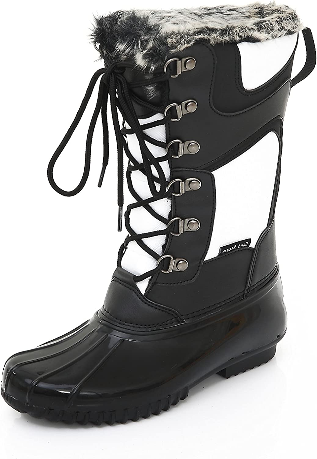 Womens Winter Snow Boots Tall - Insulated Lace-Up Closure Comfortable Weatherproof