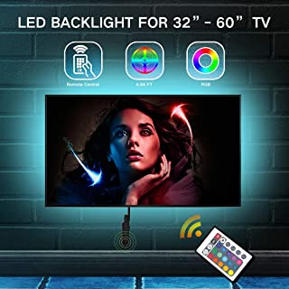 LED Strip Lights for TV 40-60inch - 6.56ft Remote Controlled TV LED Backlight, Color Changing RGB LED Lights for TV Accent Lighting