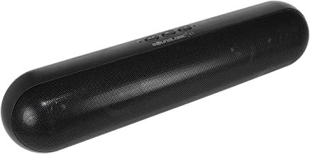 SoundLogic XT Extra Large Rechargeable Wireless Bluetooth Pill Capsule Speaker, Black