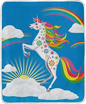 Amazon.com: QH 58 x 80 Inch Unicorn Dream Print Super Soft ...