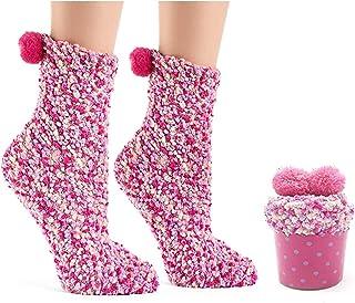 Mattelsen, Calcetines divertidos Mujer Con Pompon Empaquetado De Forma Pastel Envoltorio de Regalo de Cupcakes Para Invierno