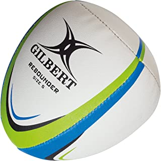 (Size 5, White/Blue/Green) - Rebounder Match Weight Training Rugby Ball - White/Green/Blue
