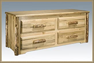 Montana Woodworks Glacier Country Collection 4-Drawer Sitting Chest, Stain and Lacquer
