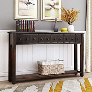 Best long console table with shelves Reviews