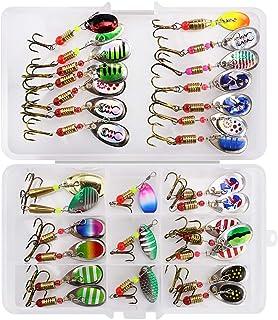 color/é Leurre de p/êche Accessoires avec anneau en caoutchouc Jaune UxradG P/êche App/ât Crochet Plastique Leurre de canne /à p/êche app/âts Crochets support r/églable Keeper