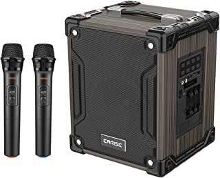 EARISE M37 Wooden Box PA System with 2 Wireless Microphone
