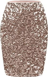 Women's Sequin Skirt High Waist Sparkle Pencil Skirt Party Cocktail Dress