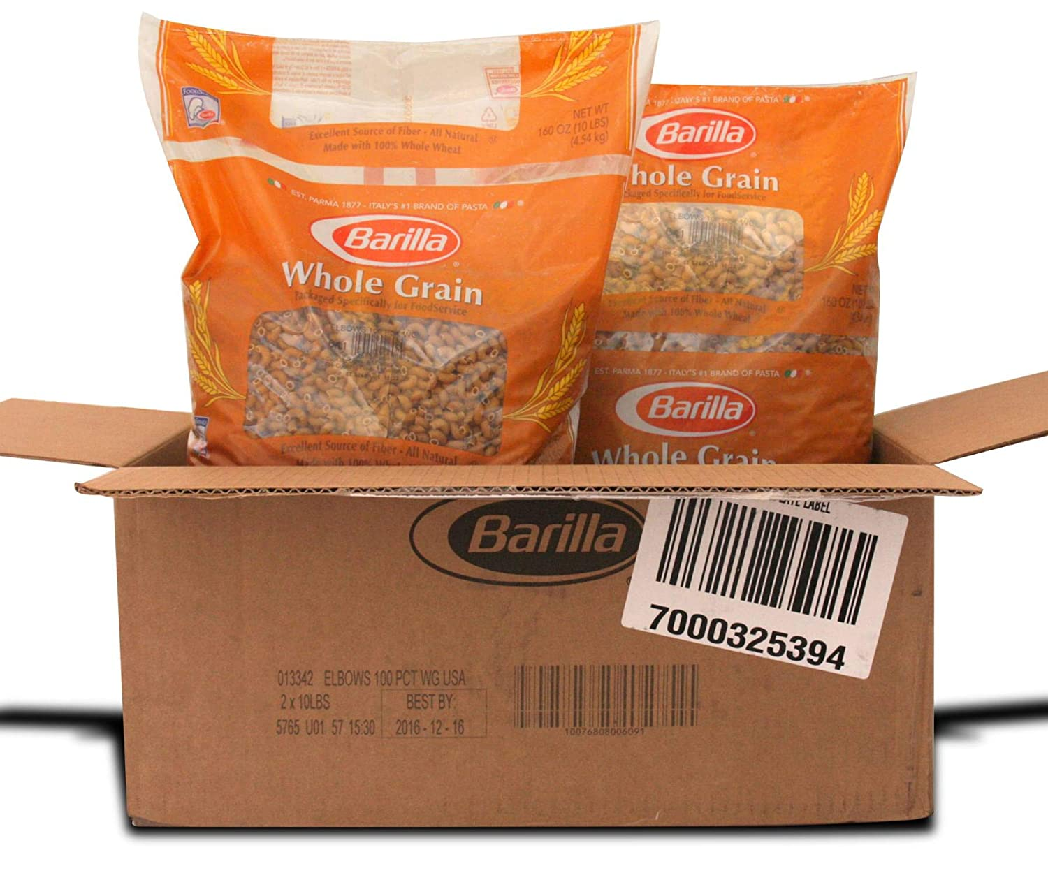 Barilla Sales Elbows 100 Percent Clearance SALE Limited time Whole Grain 160 2 per Ounce Pasta --