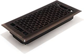 Accord AMFRRBMA410 Manhattan Floor Register, 4-Inch x 10-Inch(Duct Opening Measurements), Light Oil-Rubbed Bronze