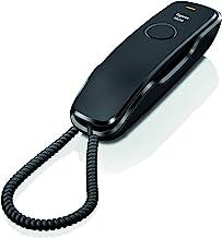 Gigaset DA210 - Teléfono Fijo con Cable, Color Negro