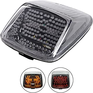 Smoke Integrated 118-LED Turn Signal Side Marker Lamp Running Brake Stop Tail Light + Load ResistorCompatible with 2002-2011 Harley V-rod