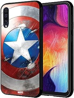 MTT Licensed Marvel Captain America Hard Back Case Mobile Cover for Samsung Galaxy A50 (D76)