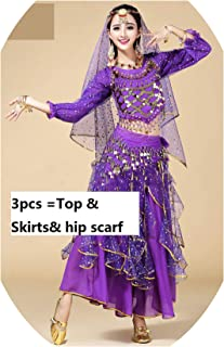 Belly Dance Costume Set Bra Skirt Top Oriental Bollywood Dance Bellydance Dress