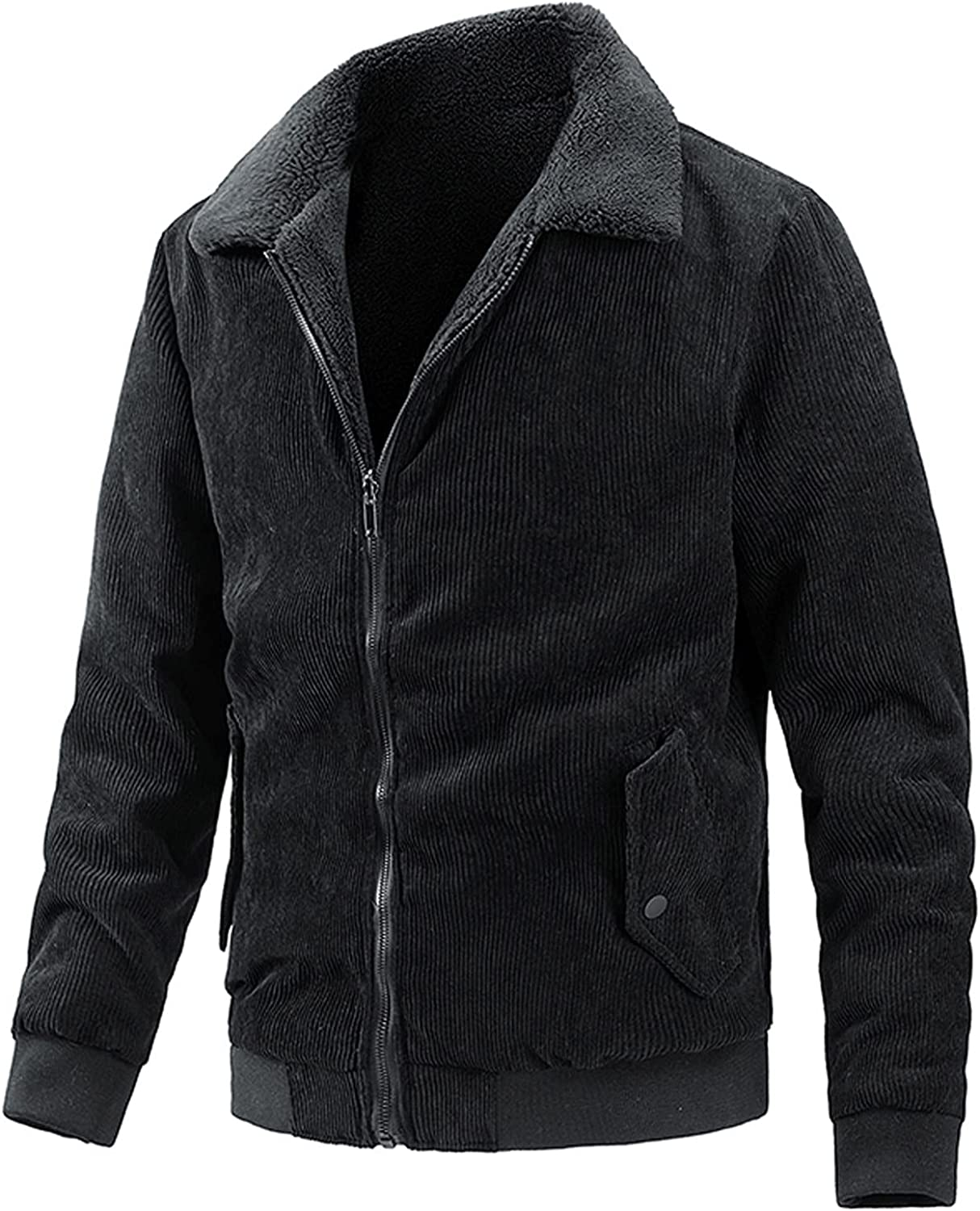 Men Corduroy Cheap mail order shopping Coat Casual AutumnWinter Warm Outlet SALE Both Wear On P Sides