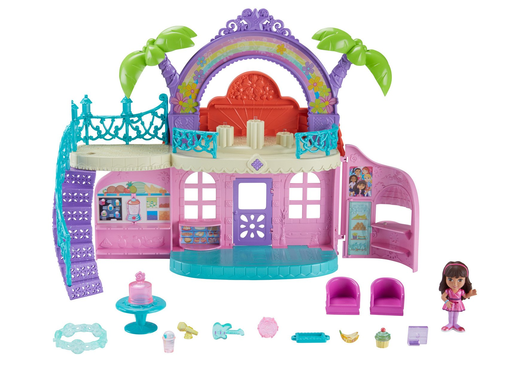 8 Inch Figure /& Charm Fisher-Price Nickelodeon Dora /& Friends Dora
