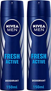 NIVEA MEN Fresh Active Deodorant Spray, 2 x 150 ml, 81600