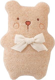 日本製 オーガニックコットン ベビーラトル 赤ちゃんのおもちゃ にこにこ動物 鈴入り アモローサマンマ amorosa mamma!ベビー 新生児用 ファーストトイ ニギニギ (くま)