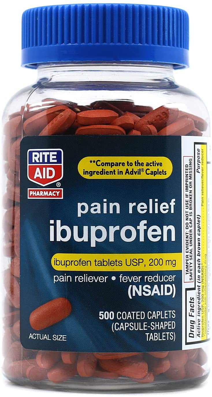 Rite Aid Pharmacy Ibuprofen 200 mg 500 - Caplets Brown Coated Challenge the lowest price of Japan ☆ 40% OFF Cheap Sale