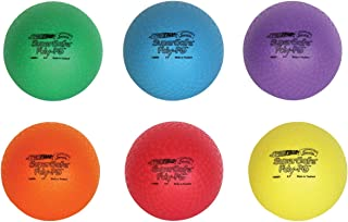 Sportime Supersafe Balls, 8-1/2 Inches, Assorted Colors, Set of 6 - 1017307