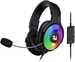 Redragon H350 Pandora RGB Wired Gaming Headset, Dynamic RGB Backlight - Stereo Surround-Sound - 50MM Drivers - Detachable ...