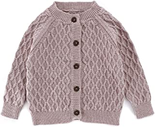 Baby Sweater Cable Knitting Thick Baby Unisex Cardigan for Autumn Fall 3-24 Months