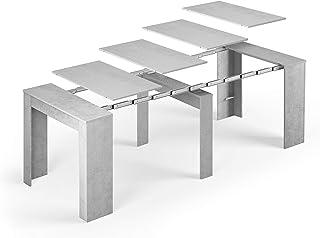 Tendencio Table Console Extensible Alga, rectangulaire avec rallonges, jusqu'à 237 cm, pour Salle à Manger et séjour, Gris...