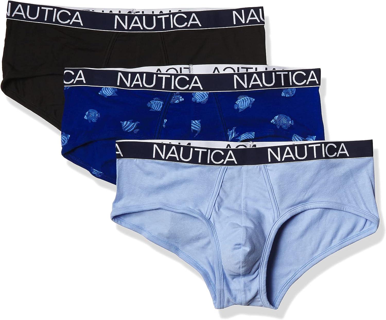 Nautica Men's 3 Pack Cotton Stretch Brief