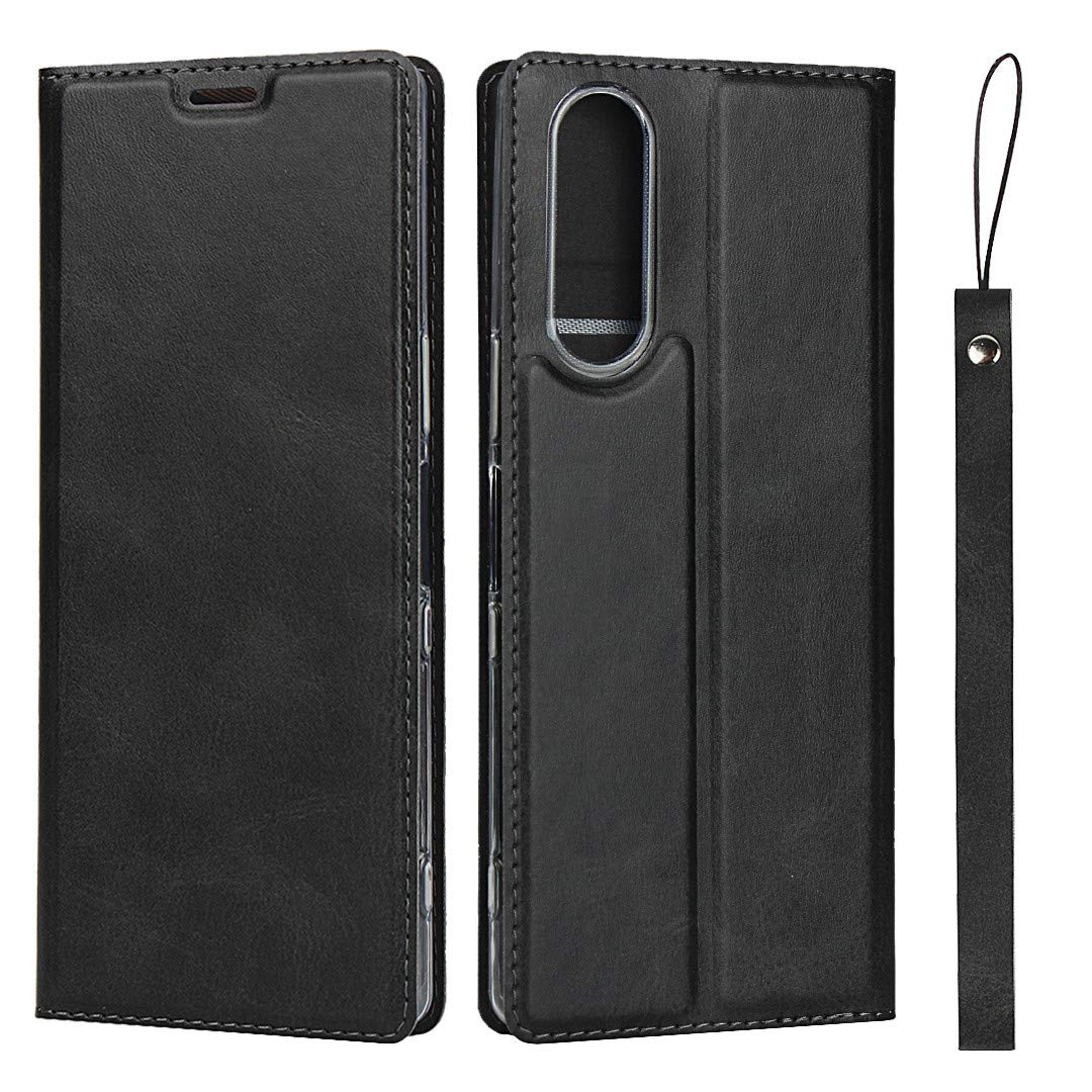 Sony Xperia XZ2 Case, The Grafu Premium Flip Folio Case with Card Slot and Wrist Strap for Sony Xperia XZ2, Multiple Functions PU Leather Cover, Brown