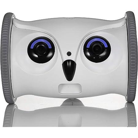 SKYMEE スカイミー Owl Robot オウルロボット フクロウ型ロボット モバイルフルHD 1080P ペットカメラ 自動餌やり機 犬猫用おもちゃ いぬねこ以外にも 専用アプリによるリモート操作可能 リモートカメラ ベビーカメラ 高解像度 スマホで遠隔操作可能 防犯・監視にも ワイヤレスカメラ Wifiカメラ 子供。老人の見守りにも Wi-Fi:5GHz非対応